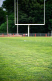 Sports background of a football stadium, with goal post Royalty Free Stock Photo