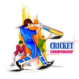 Sports background for the match of Cricket Championship Tournament. Vector illustration of Sports background for the match of Cricket Championship Tournament stock illustration