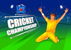 Sports background for the match of Cricket Championship Tournament. Vector illustration of Sports background for the match of Cricket Championship Tournament vector illustration