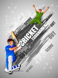 Sports background for the match of Cricket Championship Tournament Royalty Free Stock Photos