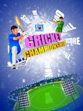 Sports background for the match of Cricket Championship Tournament Royalty Free Stock Image