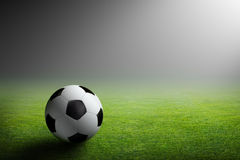 Soccer ball, stadium, light Stock Photos