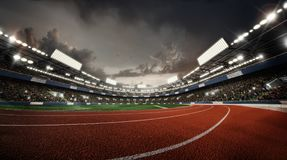 Sports Background. Stadium. Sport Arena. Royalty Free Stock Photography