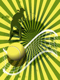 Sports background tennis Stock Image