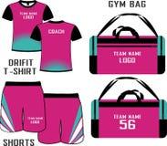 Sports Backpacks bags custom design mock ups templates illustration front and back  view  drif ir shirt and shorts