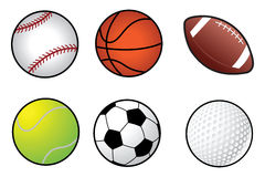 Sports ball collection Stock Image