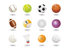 Sports ball icons Stock Photos
