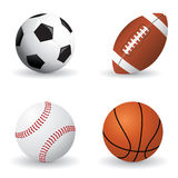 Sports ball set Royalty Free Stock Images