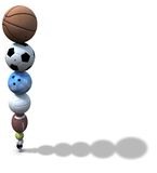 Sports Ball Stack Background Stock Image