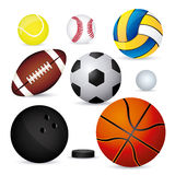 Sports balloons Royalty Free Stock Images