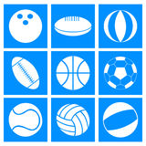 Sports balls Royalty Free Stock Images