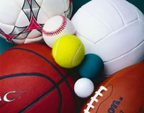 Sports balls royalty free stock photography