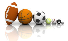Sports balls Stock Photography