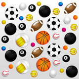 Sports balls background Stock Images
