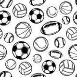 Sports Balls Background, Seamless Pattern, Icons Royalty Free Stock Photo
