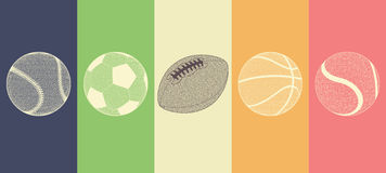 Sports Balls Collection Stock Images
