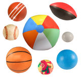 Sports balls collection isolated Stock Photos