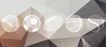 Sports Balls Collection Stock Photography