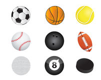 Sports balls equipment icon set illustration Royalty Free Stock Photo