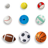 Sports balls Stock Images