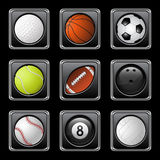 Sports balls icons Royalty Free Stock Image