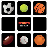 Sports balls icons Stock Photo