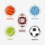 Sports balls logos, emblem Royalty Free Stock Photos