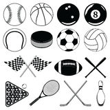Sports Balls and Other Items Royalty Free Stock Photography