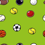 Sports Balls Repeat Royalty Free Stock Photography