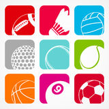 Sports balls1 stock photo