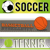 Sports. Balls with text on special background Royalty Free Stock Photography