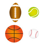 Sports balls, vector Royalty Free Stock Images