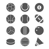 Sports balls vector icons Stock Image