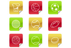 Sports Balls - Web 2.0 and Blog Icons #8. A set of 9 internet icons and buttons Stock Photography