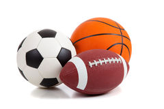 Sports Balls on White Stock Photos