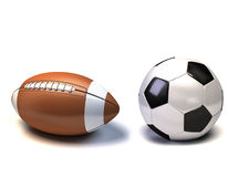 Sports balls on a white background Royalty Free Stock Photography