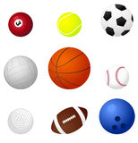 Sports balls2 Stock Photos