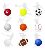 Sports balls3 Royalty Free Stock Photos