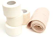 Sports bandages on top. Picture of sports bandages on top royalty free stock photos