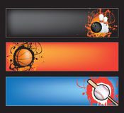 Sports banner on black Royalty Free Stock Photo