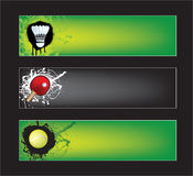 Sports banners Stock Image