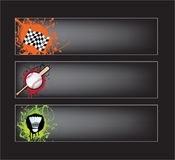 Sports banners on black Royalty Free Stock Photo
