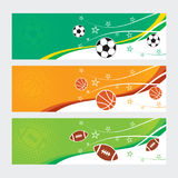 Sports Banners - Soccer, Football & Basketball Stock Images