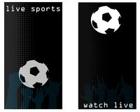 Sports bar flyer cards. A pair of backgrounds for a sports bar Stock Photos