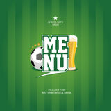 Sports Bar Menu card template. Stock Photography