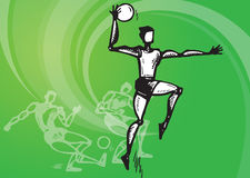 Sports_basketball volleyball Royalty Free Stock Images
