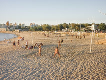 Sports at the Beach in Montevideo Stock Photography