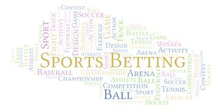 Sports Betting word cloud. Made with text only stock illustration