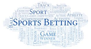 Sports Betting word cloud. Made with text only royalty free illustration