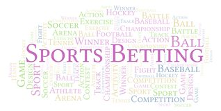 Sports Betting word cloud. Made with text only vector illustration